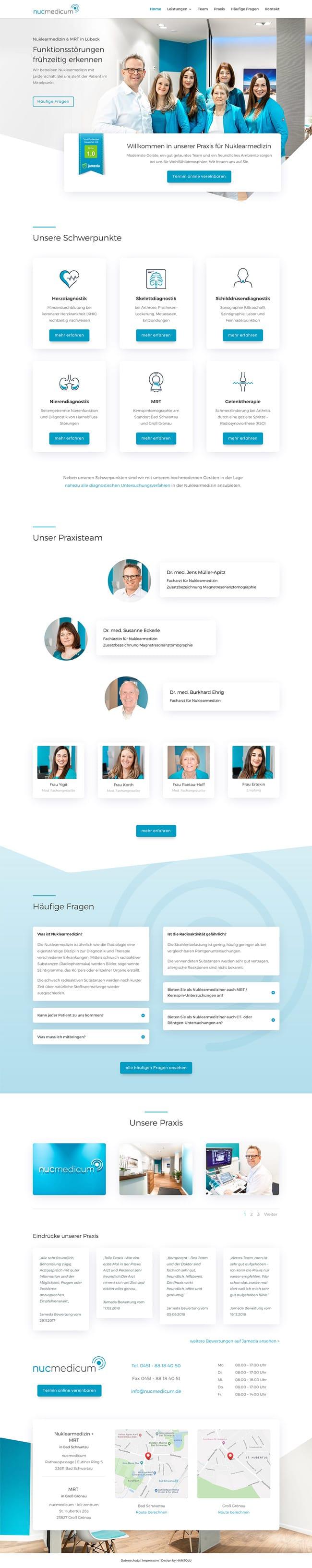 Modernes Webdesign für Arztpraxis / Arzt - nucmedicum