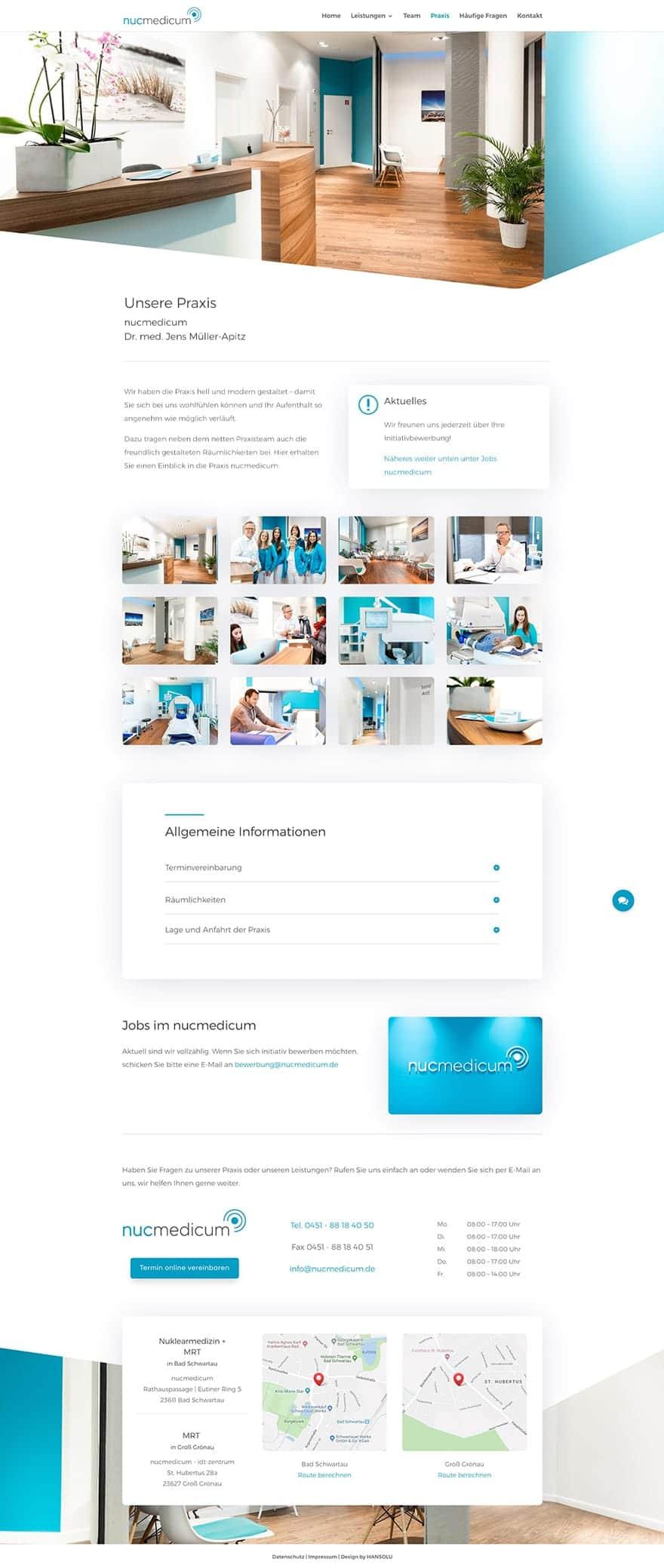 Modernes Webdesign für Arzt / Arztpraxis - Screenshot Beispiel