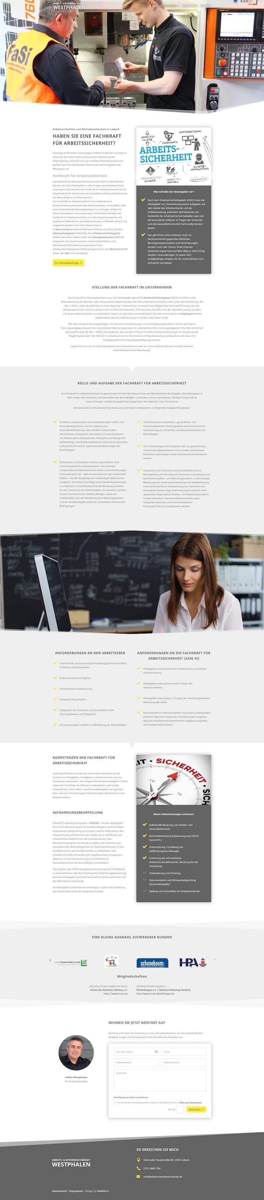 Moderne Website für Berater