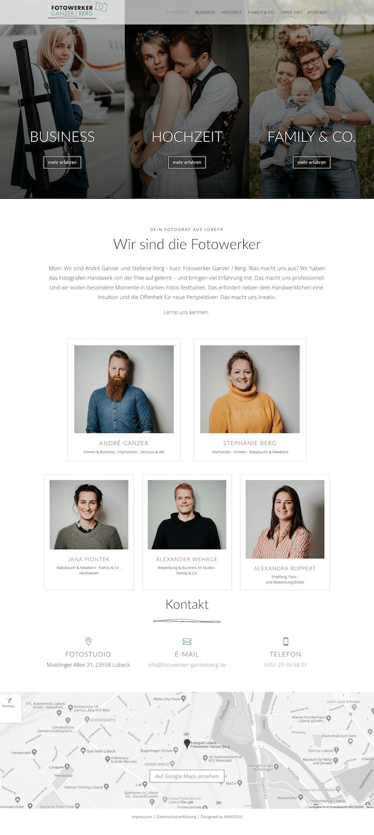 Portfolio Website Design - Fotowerker