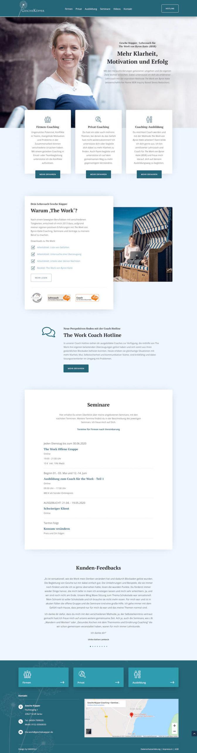 Webdesign für Coach