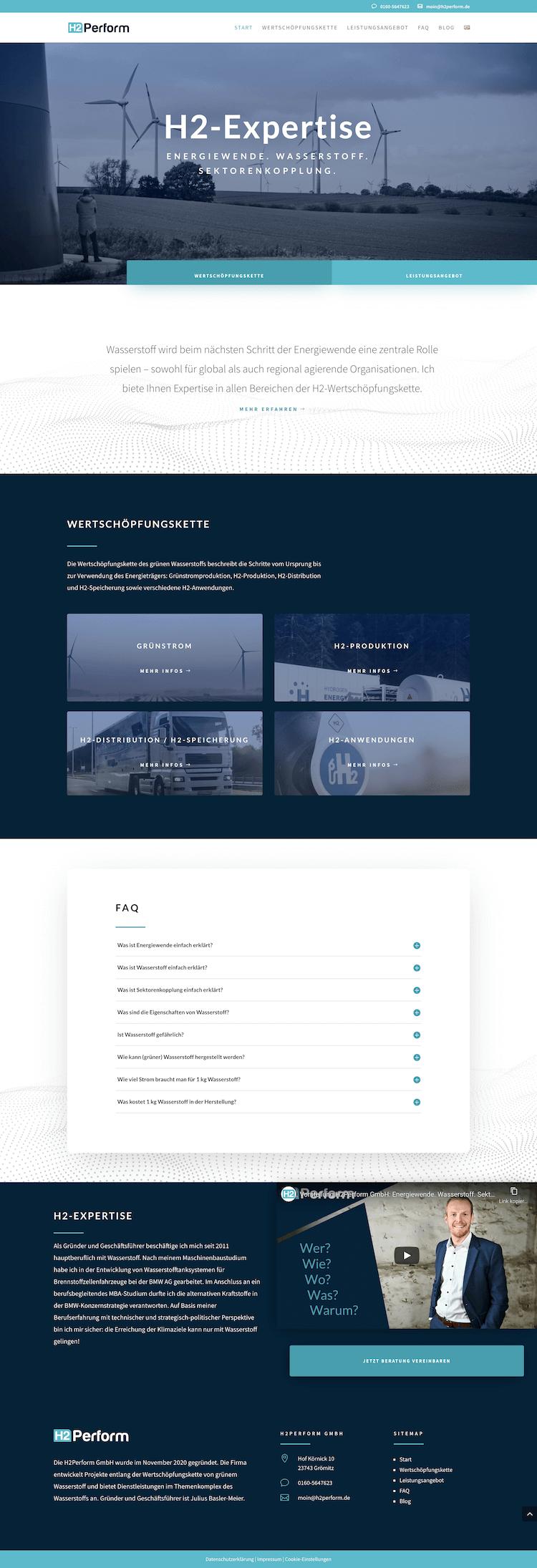 Professionelle Webseite