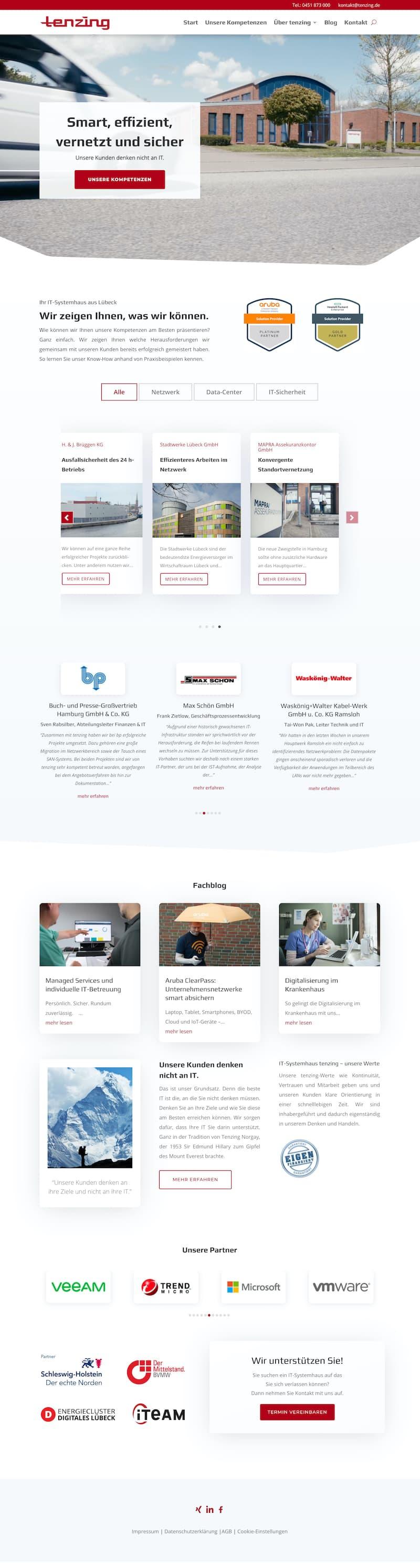 Webdesign für IT-Systemhaus
