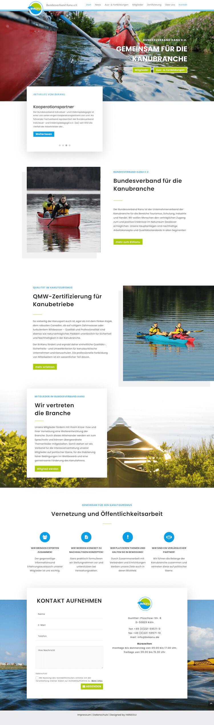 Webdesign für Verein