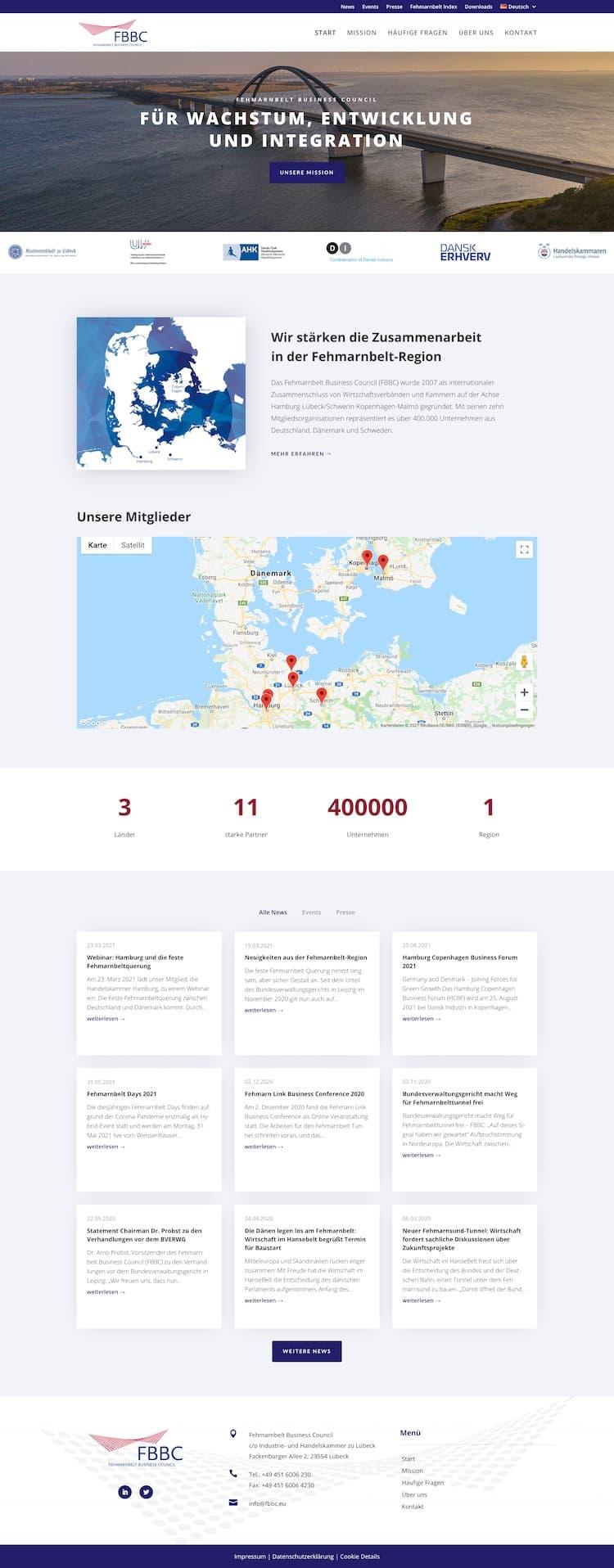 Webdesign für Projekt