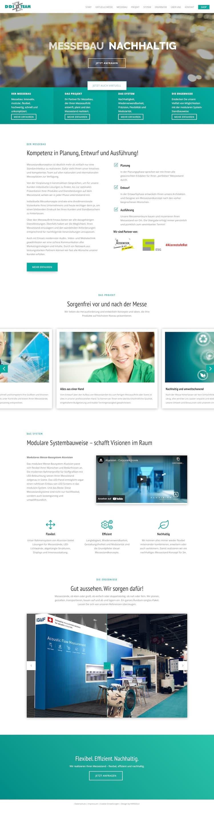 Webdesign für Messebau