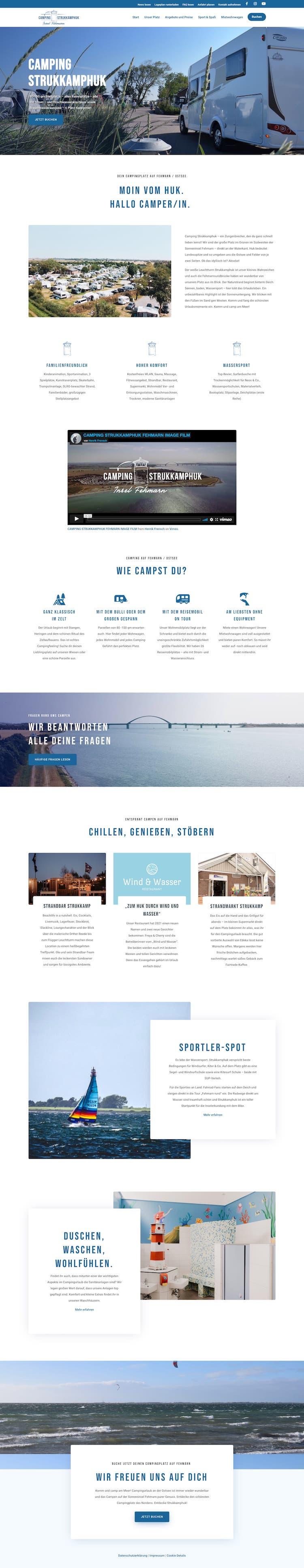 Webdesign für Campingplatz