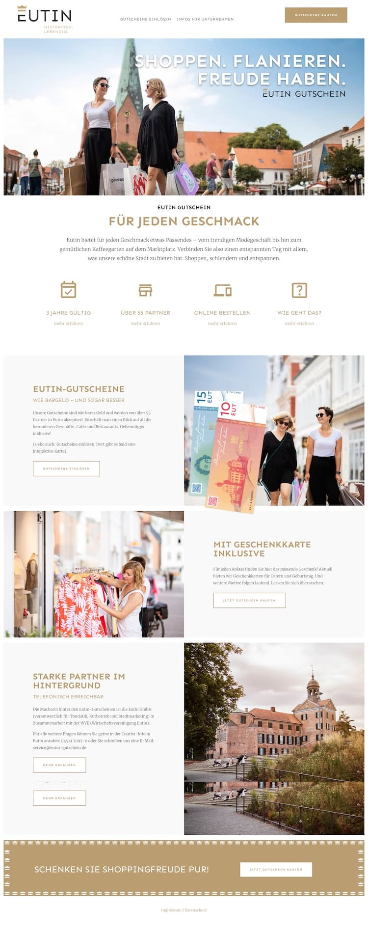 Webdesign für Eutin GmbH