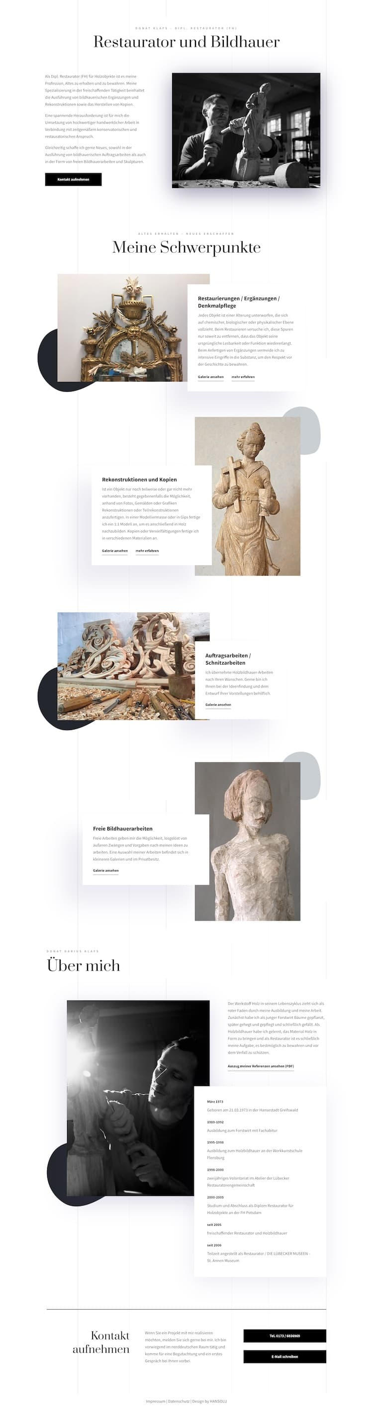 Webdesign für Künstler