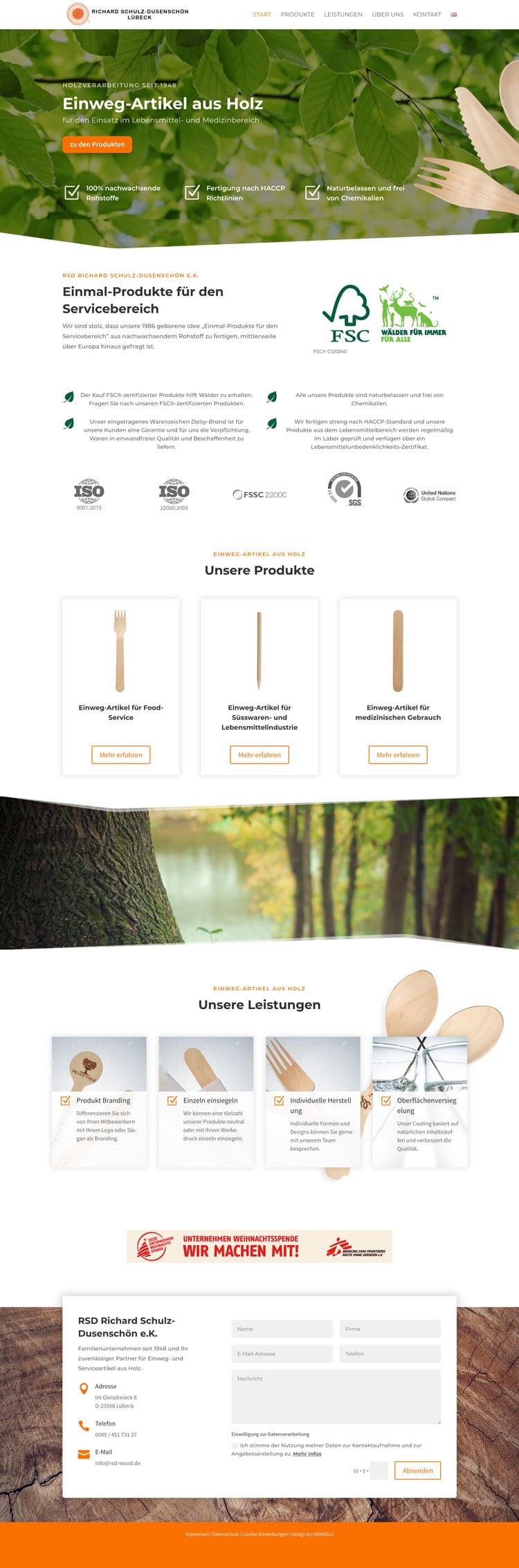 Webdesign für Industrieunternehmen